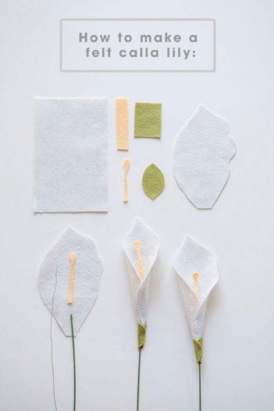 bunga lily dari kain flanel 2020