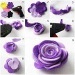Cara Membuat Bunga dari Kain Flanel Beserta Gambarnya