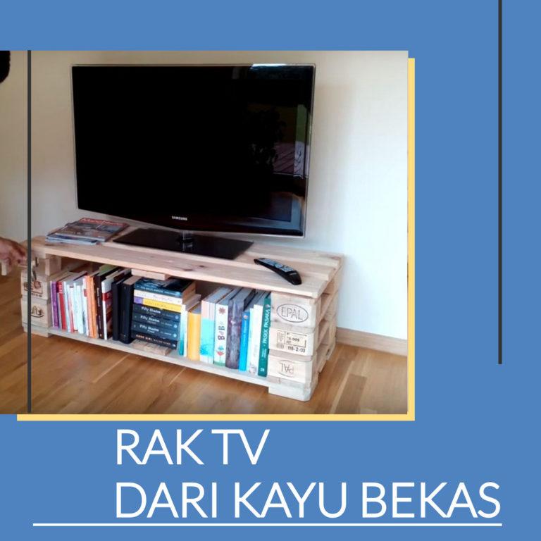 Cara Membuat Rak TV dari Kayu Bekas Yang Minimalis dan Keren