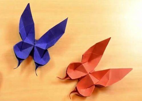 contoh kerajinan kupu kupu dari kertas origami untuk hiasan dinding 2020