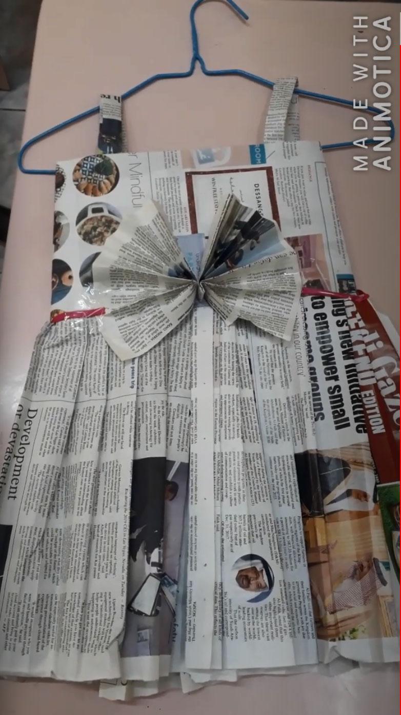 gaun cantik dari koran bekas untuk anak 2021