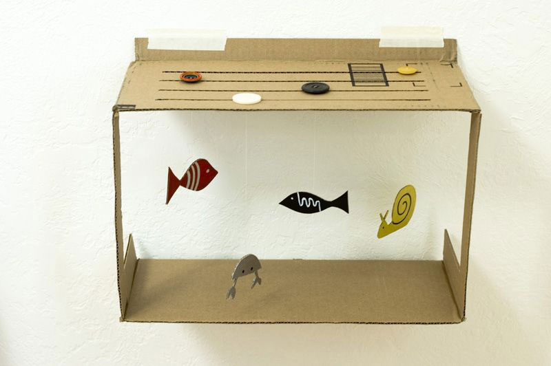 kerajinan ape aquarium dari kardus bekas 2020