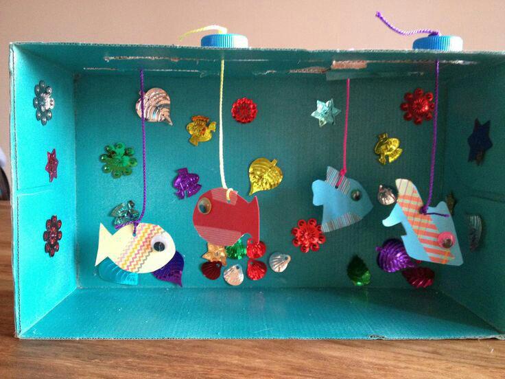 kerajinan ape aquarium ikan dari kardus bekas 2020
