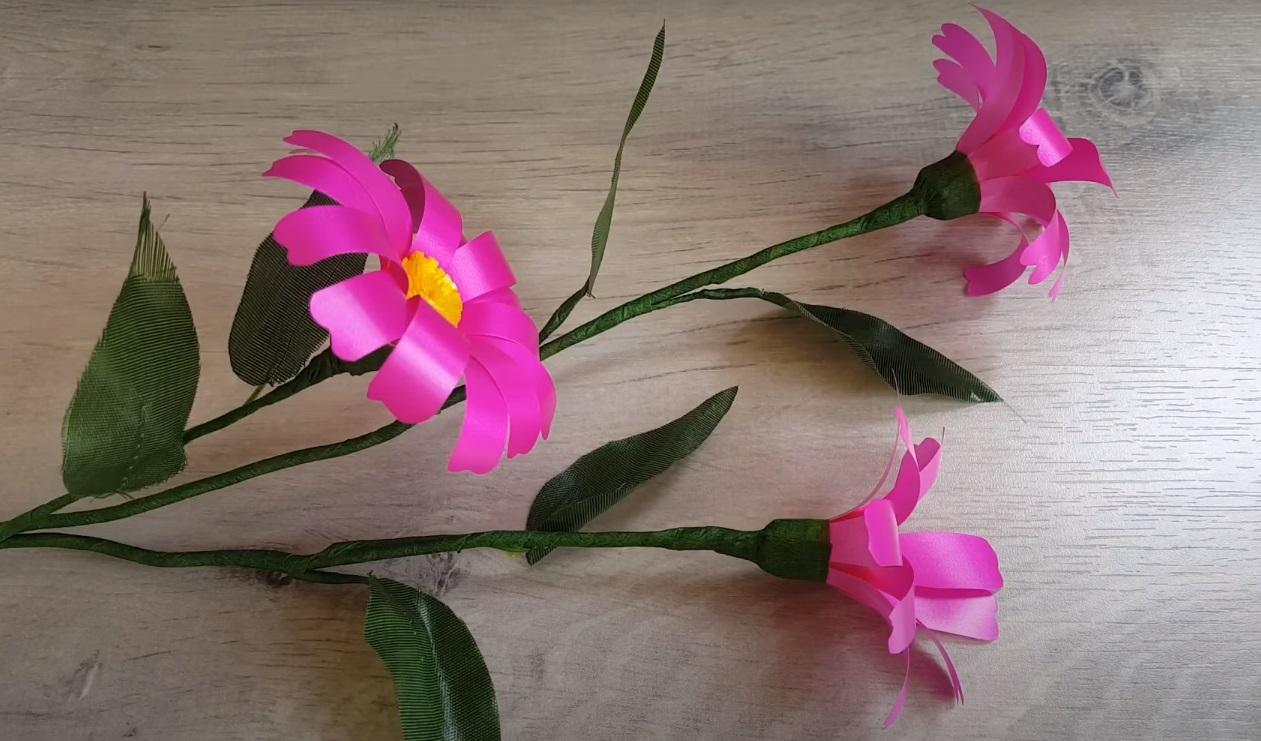 kerajinan bunga cantik dari pita jepang 2021