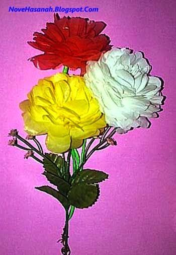 kerajinan bunga dari kantong kresek warna warni 11 2020