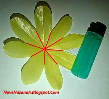 kerajinan bunga dari kantong kresek warna warni 7 2021