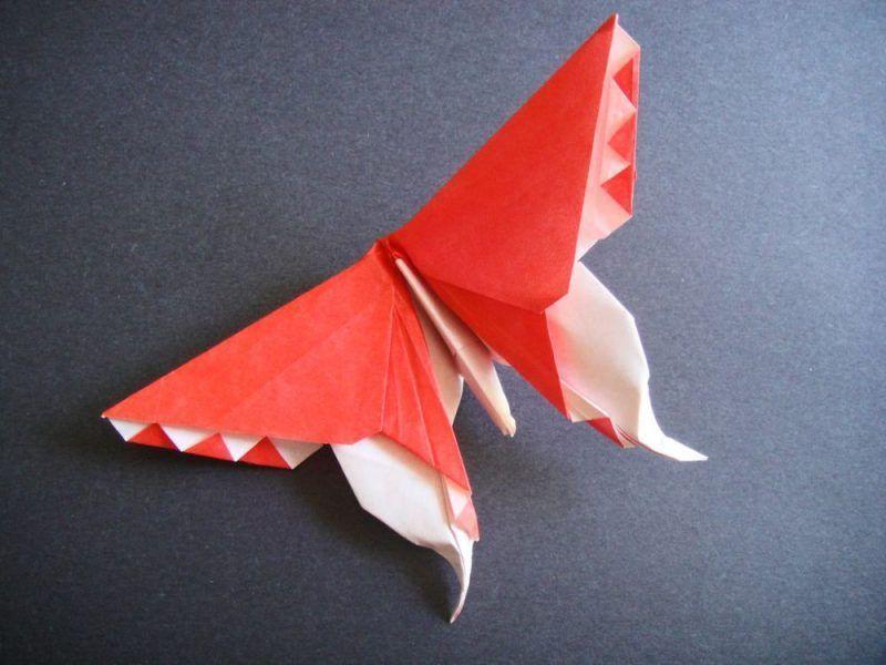 kerajinan kupu kupu dari kertas origami untuk hiasan dinding 1 2020