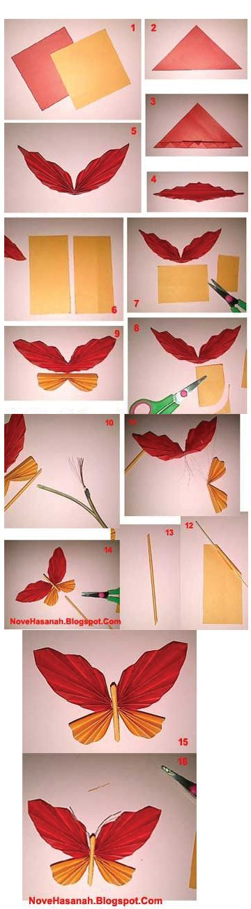 kerajinan kupu kupu dari kertas origami untuk hiasan dinding 2021