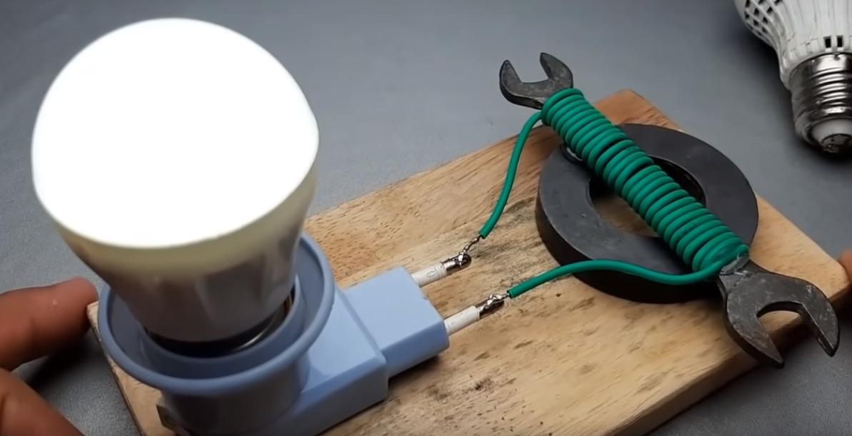 kerajinan lampu dengan magnet dan kunci 2021