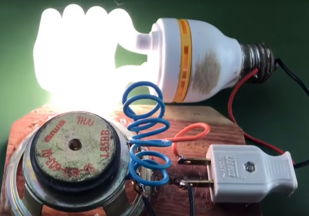 kerajinan lampu dengan magnet dan speaker 2021