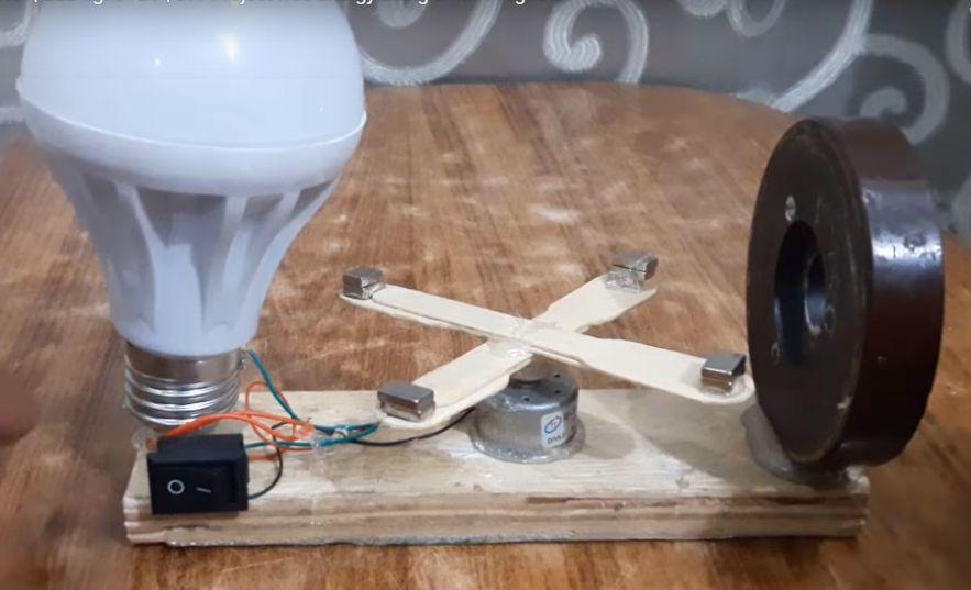 kerajinan lampu dengan magnet dan stik kayu 2021