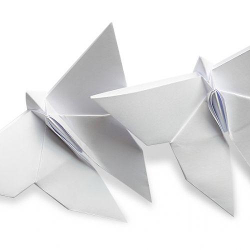 kupu kupu putih dari kertas lipat 2021