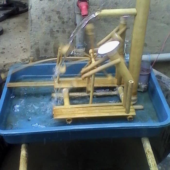 miniatur kincir air bambu kecil 2021